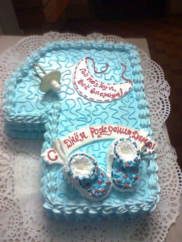 торт мальчику на 1 годик из крема фото